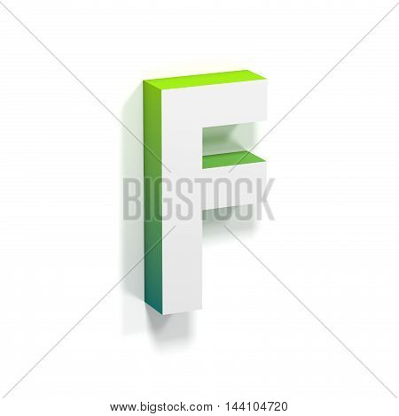 Green Gradient And Soft Shadow Letter F