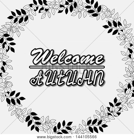 Welcome Autumn Background. Autumn leaves. You can place Your text in the center