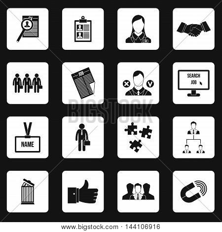 Job search icons set in simple style. Human recruitment set collection vector illustration