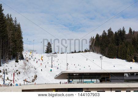 cozy ski resort Hochficht in the Bohemian Forest - Austria