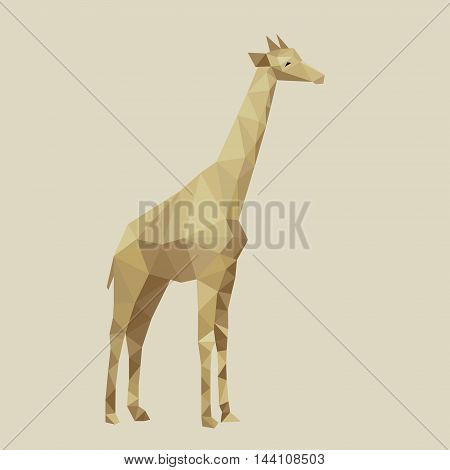 Abstract stylized polygons giraffe. Colorful vector illustration