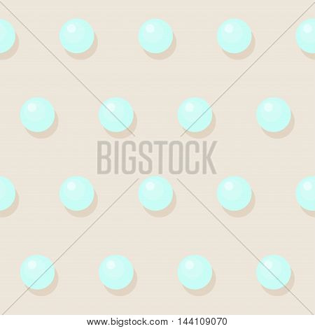Pearls beads seamless pattern vector soft background