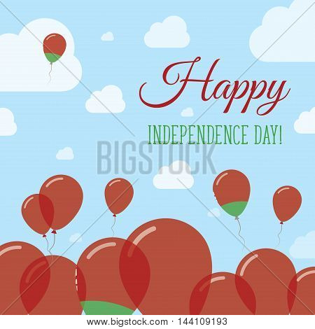 Belarus Independence Day Flat Patriotic Design. Belarusian Flag Balloons. Happy National Day Vector
