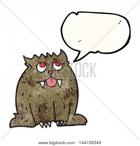 freehand speech bubble textured cartoon beast