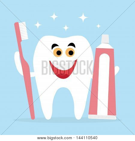 Best Friends of healthy teeth is a toothbrush and toothpaste