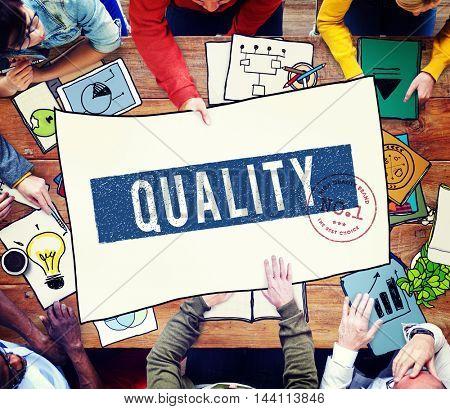 Quality Service Guaranteed Premium Quality Concept