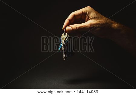 Male Hand Holding A Keys