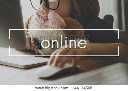 Online Network Media Sharing Social Website Concept