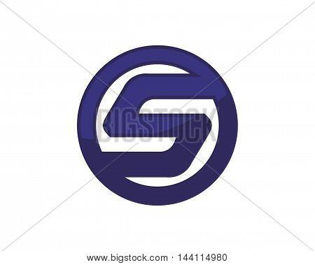 Letter S logotype inside a bold shape