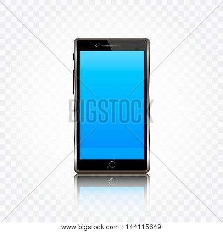 Mobile phone vector illustration. Realistic smartphone isolated