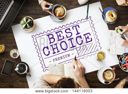 Best Choice Seller Product Merchandise Marketing Concept