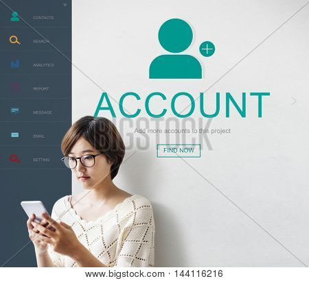 User Account Profile Social Network Concept