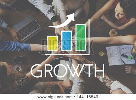 Business Development Growth Bar Chart Concept