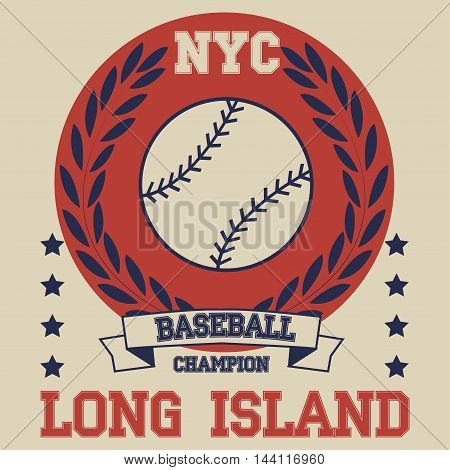 New york Brooklyn sport baseball typography t-shirt. New york College fashion design print for t-shirt. Brooklyn T-shirt Printing Design original wear sportswear apparel - vector