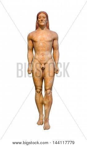 Marble statue of Kroisos Kouros (530 B.C.), found at Anavyssos, Attica.