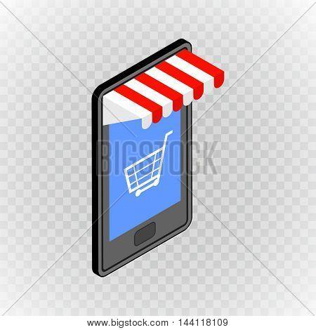 Online shopping vector concept. Vector illustration flat design