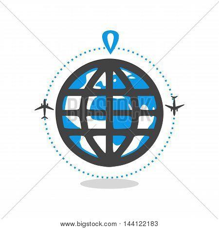 logo world travel in vector format eps10