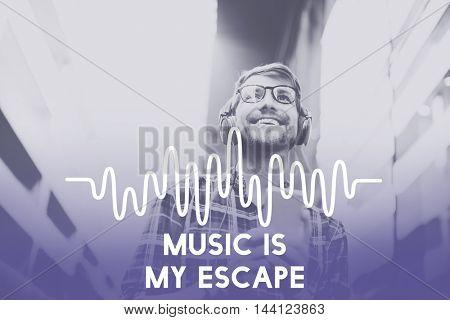 Music Waves Audio Lifestyle Concept