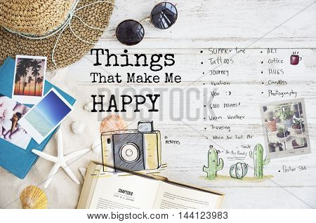 Things That Make Me Happy Concept