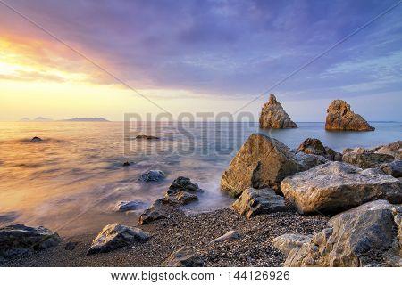 Sunset in the Tyrrhenian Sea - Sicily,IT