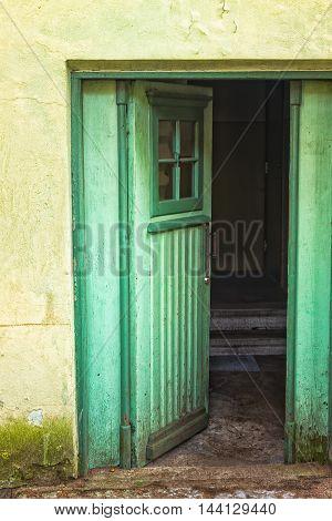 Green Door Open