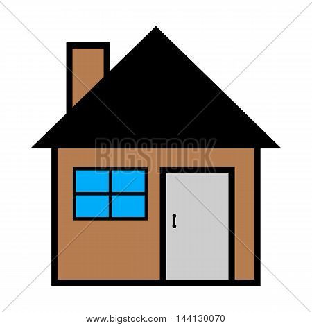 Vector illustration of cool house icon isolated on white background - Vector design EPS 10