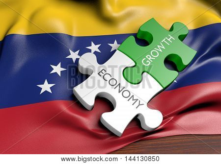 Venezuela economy and financial market growth concept, 3D rendering