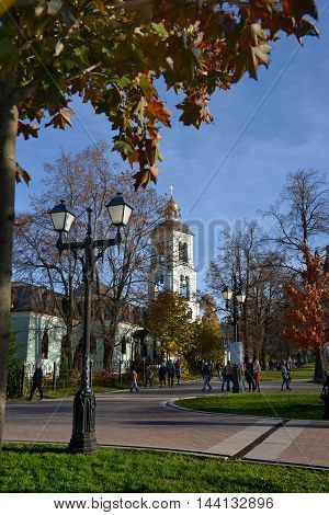 Moscow, Russia - October 13, 2013: Old church in the park