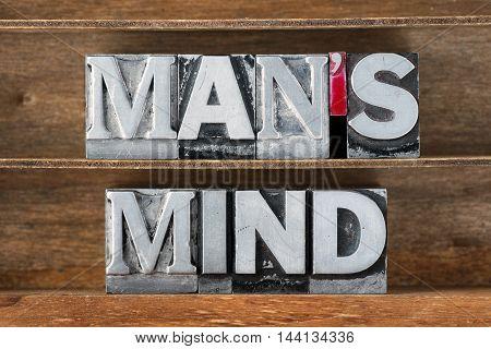 Mans Mind Tray