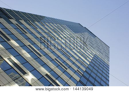 Angled view on Moscow business center tower