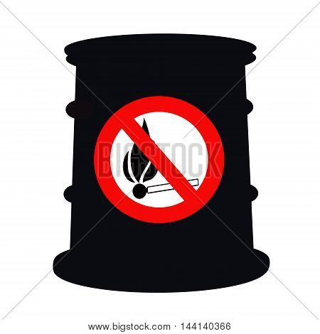 Barrel for petroleum products and the sign