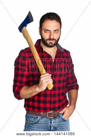 Lumberjack With Plaid Shirt