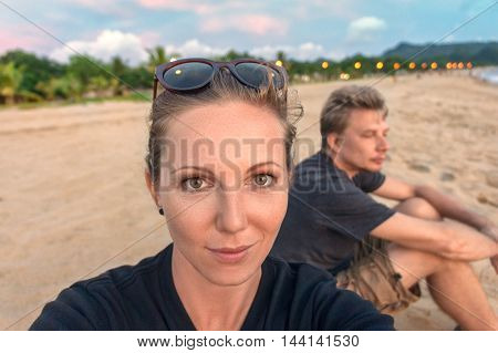 Couple Traveling Selfie
