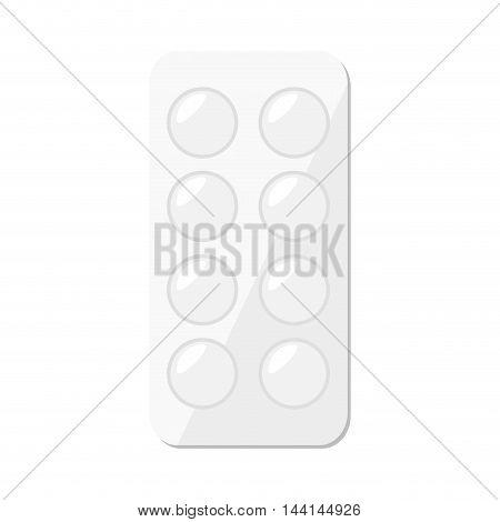 medicine pills medical science prescription container vector illustration