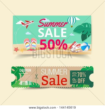 Tag price offer and promotion summer sale.
