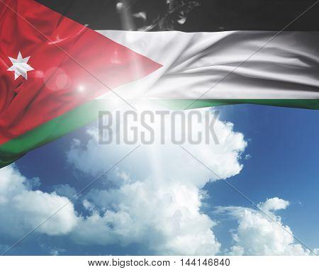 Jordan flag on a beautiful day