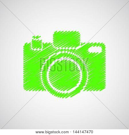 Camera-sketch-green