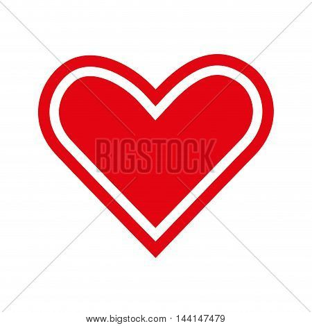 heart love romance passion amour red vector illustration