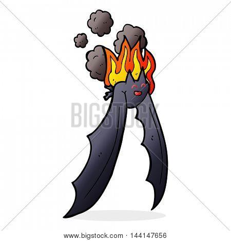 cartoon spooky bat