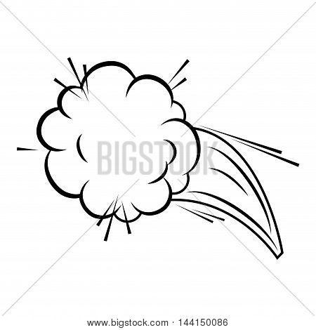 comic bubble talk speech idea expression cartoon vector illustration