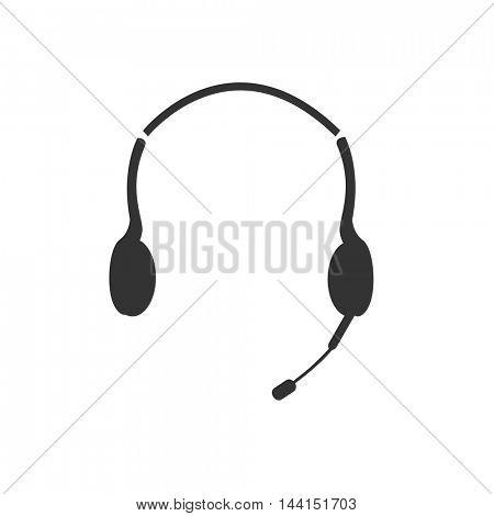 Headphones vector illustration on a white background