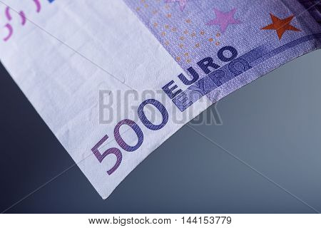 Five hundred Euro banknotes symbolically for wealth.