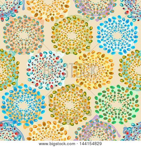 Vector seamless pattern. Nature stylish texture. Colored sea pebbles.