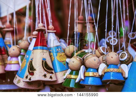 cute clay souvenirs are sold in Trakai Lithuania