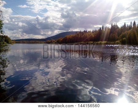 Lake Onega in Karelia on a Sunny day