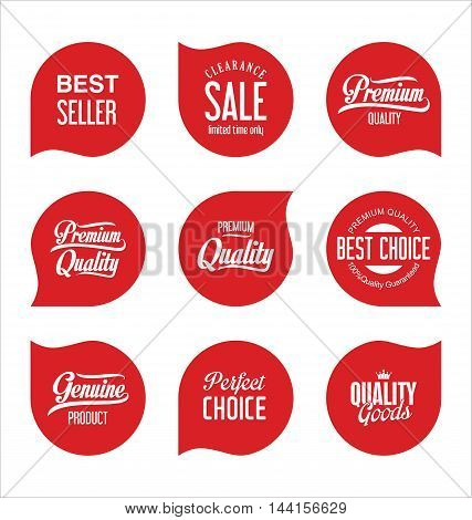 Modern Sale Badges Collection Vector.eps