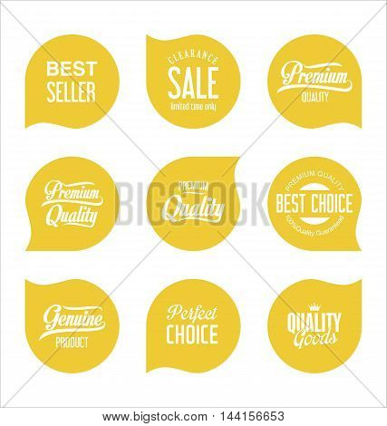 Modern Sale Badges Collection Vector 4.eps