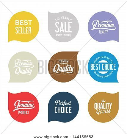 Modern Sale Badges Collection Vector 6.eps