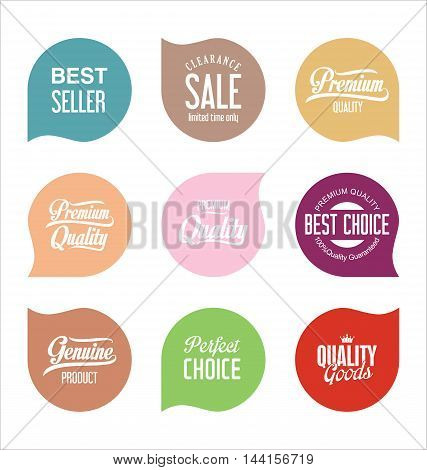 Modern Sale Badges Collection Vector 8.eps