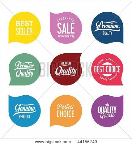 Modern Sale Badges Collection Vector 11.eps
